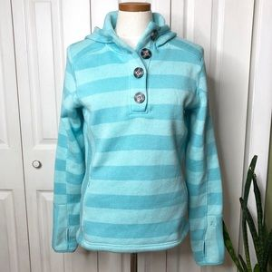 Avalanche blue striped hoodie, fleece lined